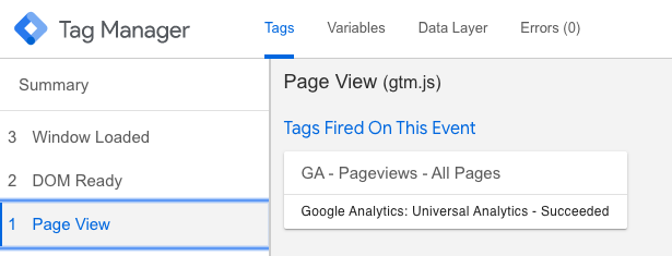 GTM page view
