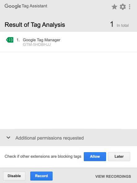 Google Tag Assistant 教學